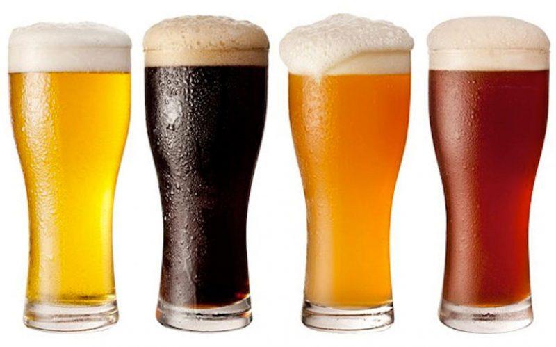 cervezas artesanales de varios colores