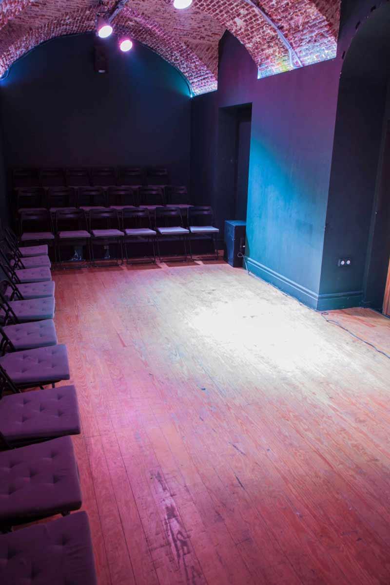 interior de la sala teatral