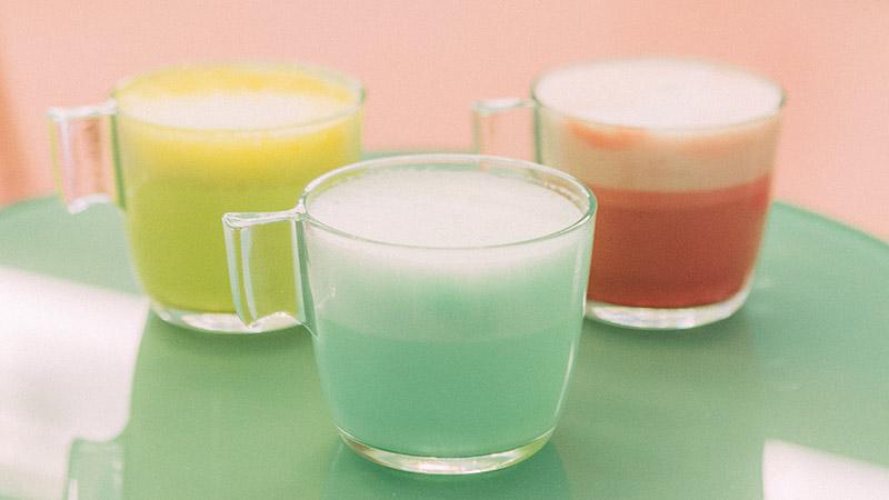 la pecera bebidas colores lattes
