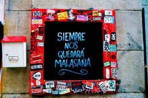 Paseo por el arte urbano de Malasaña