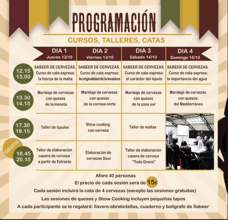 programación del evento Beermad