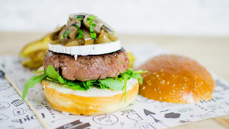 hamburguesas con setas