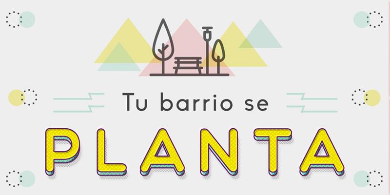 cartel del proyecto Tu barrio se planta