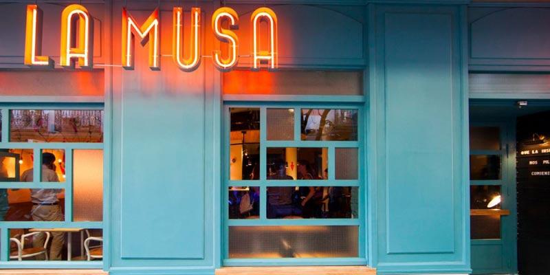 exterior del restaurante La Musa