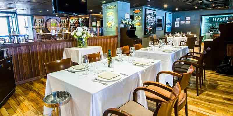 El restaurante La Esquina del Real por dentro