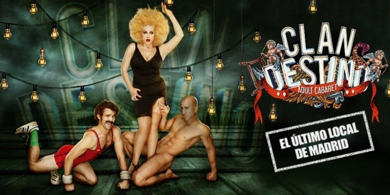 cartel de la obra Clandestino Cabaret