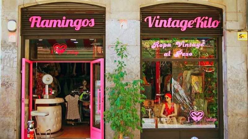 flamingos tienda vintage