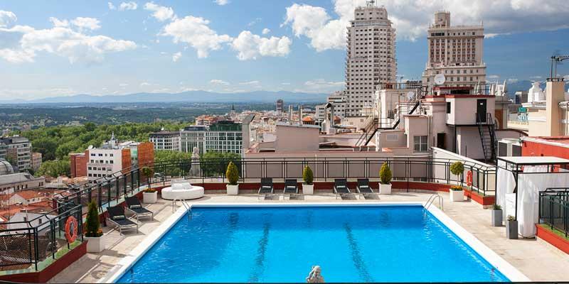 Foto de la piscina en una terraza del Roof Garden