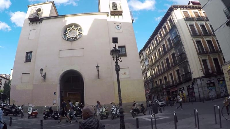 parte exterior de la iglesia san ildefonso