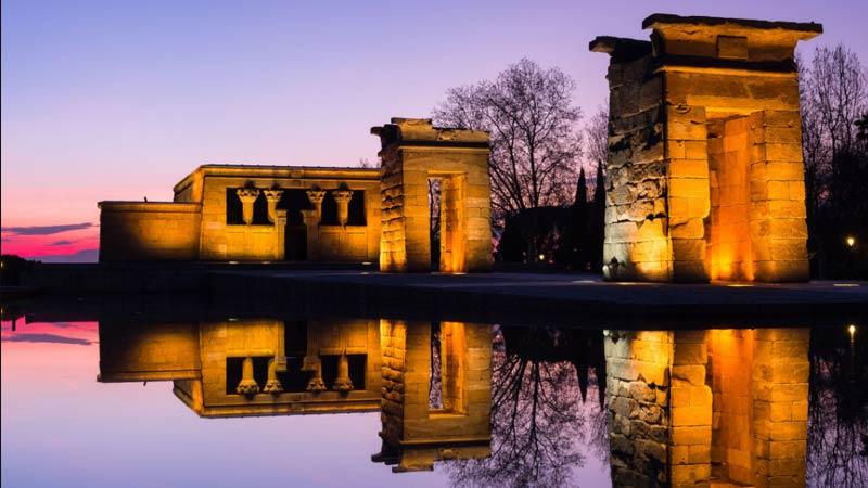 el templo de debod de Madrid