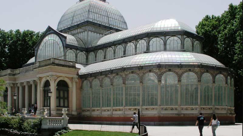 el famoso palacio de cristal de madrid