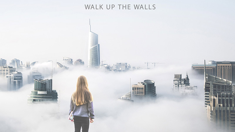 portada del disco walk up the walls de ombra