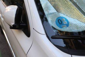 distinto ambiental 0 en un coche