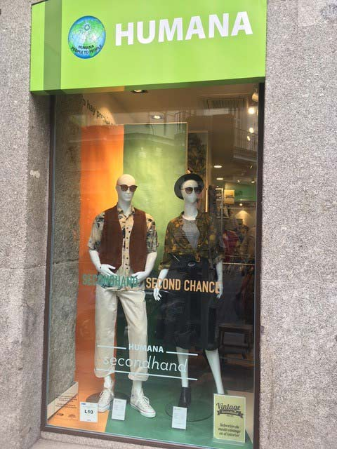 fachada tienda humana en Madrid