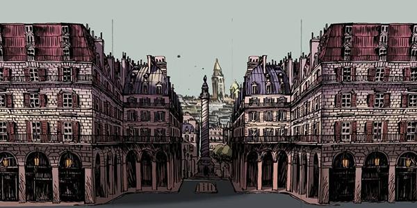 dibujo de ciudad