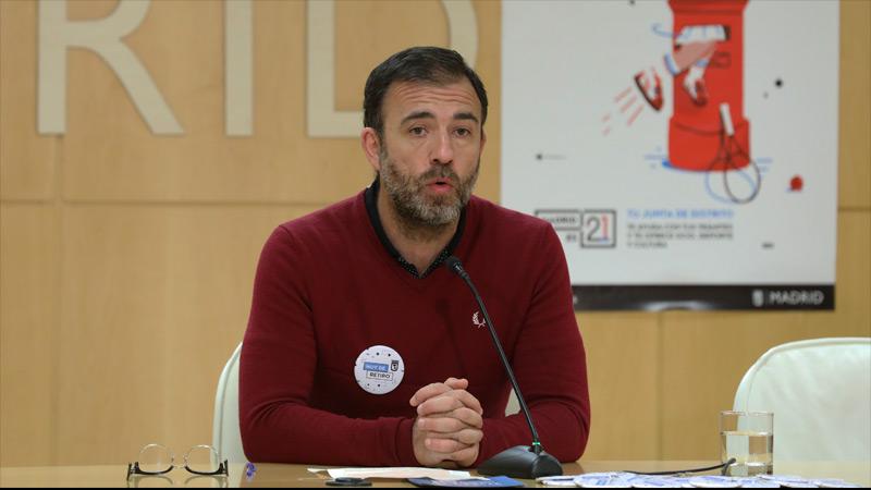 Nacho Murgui en la rueda de prensa sobre las Juntas de Distrito