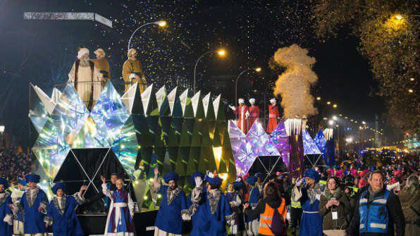 Los Reyes Magos en la Cabalgata de Madrid