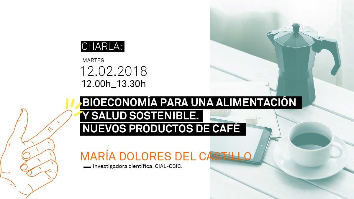 Cartel sobre la charla de bioeconomía a partir del café