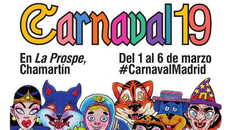 Cartel del Carnaval 2019 en Madrid