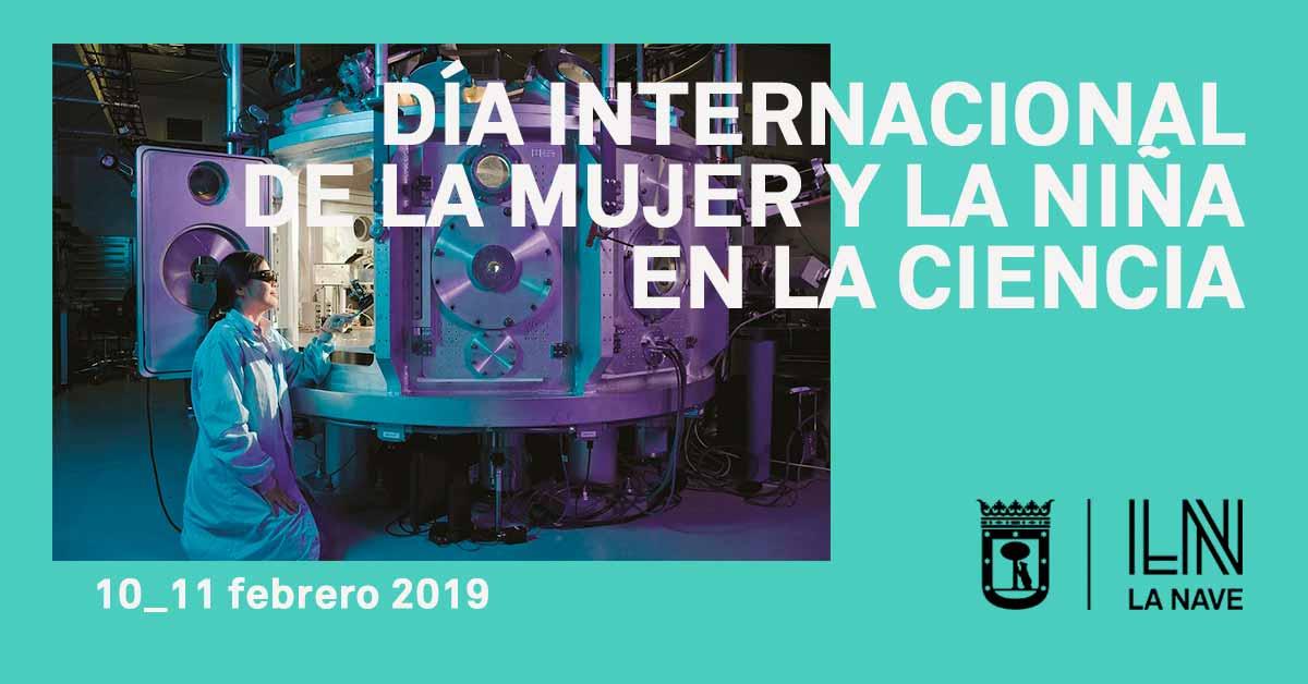 Cartel sobre el Día Internacional de la mujer y la niña en la ciencia