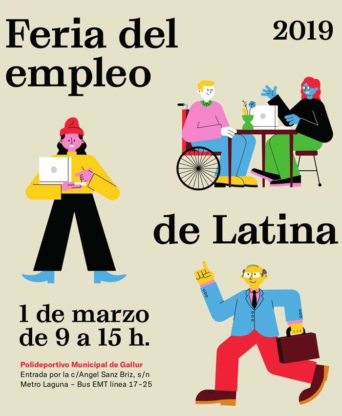 Cartel de la Feria del Empleo de Latina