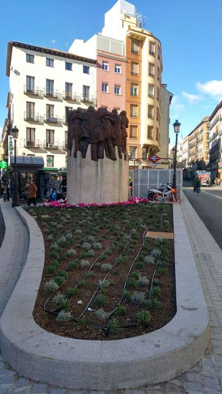 Renovación del espacio verde en la Plaza de Antón Martín