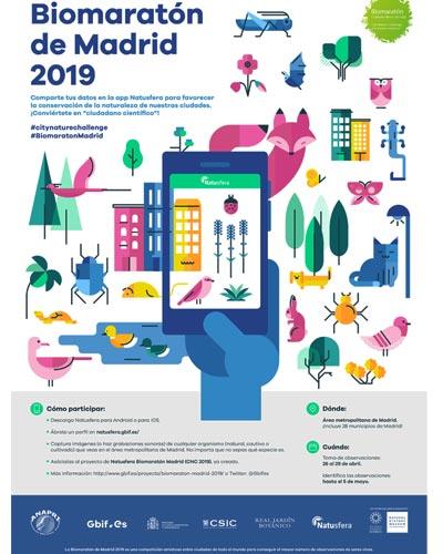 Cartel promocional del Biomaratón de Madrid 2019