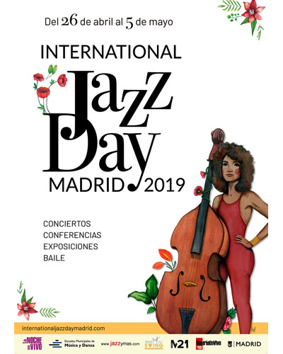 Cartel promocional del evento International Jazz Day