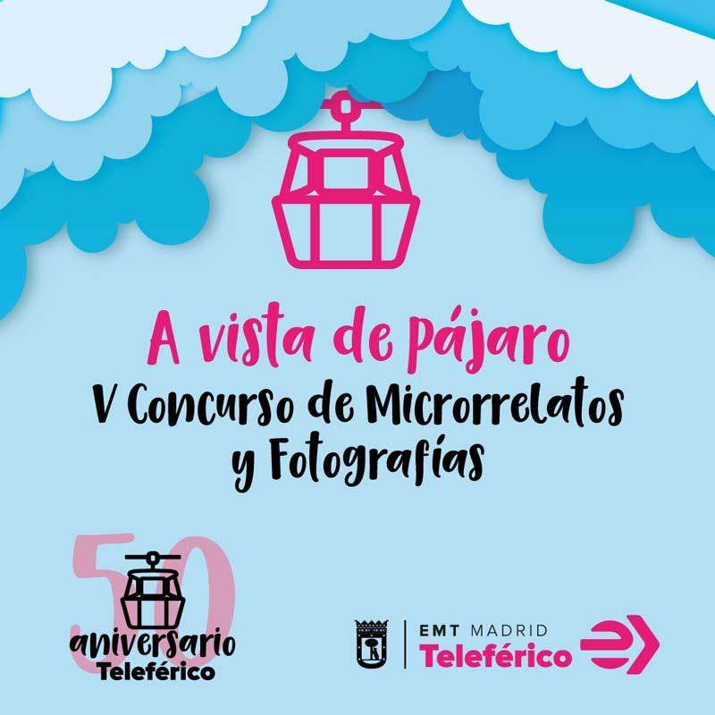 Cartel del concurso de microrrelato y fotografía A VISTA DE PÁJARO