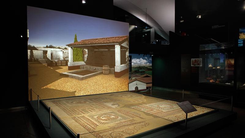 Proyección de una casa en el Museo de San Isidro de Madrid