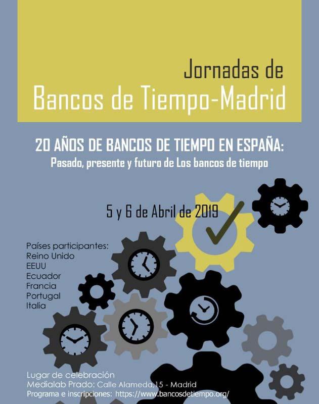 Cartel de Bancos de tiempo - Madrid