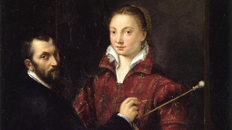 Autorretrato de Sofonisba Anguissola junto a Bernardino Campi