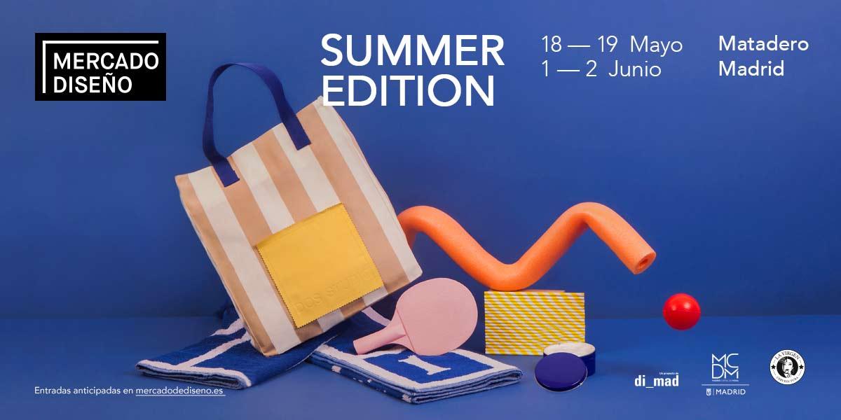 Cartel del Mercado de Diseño Summer Edition