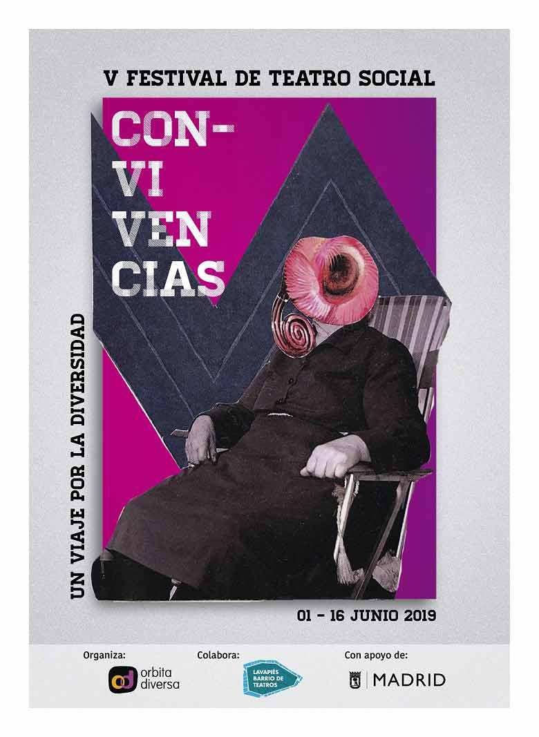 Cartel de la V edición del Festival Teatro Social de Con-vivencias