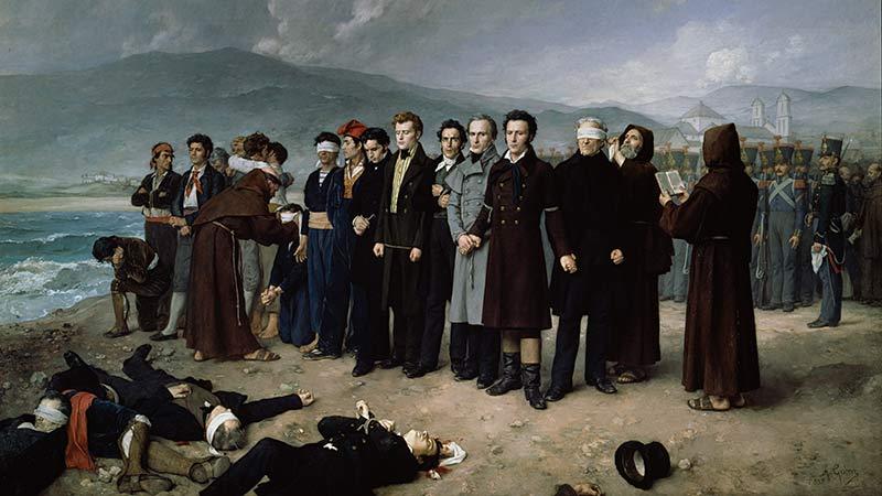 Obra de Antonio Gisbert de los Fusilamientos de Torrijos