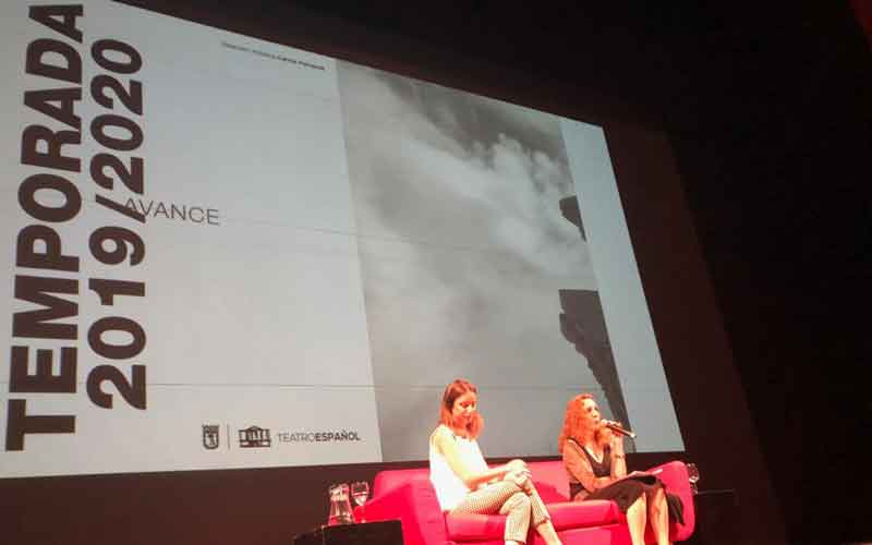 Carmen Portaceli y Andrea Levy presentando nueva programación Teatro Español