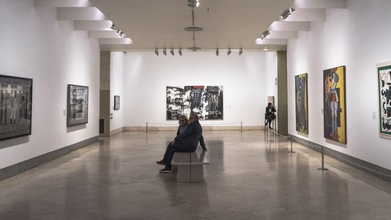 Sala de un museo de Madrid