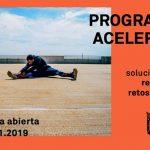 cartel promocional del programa de aceleración