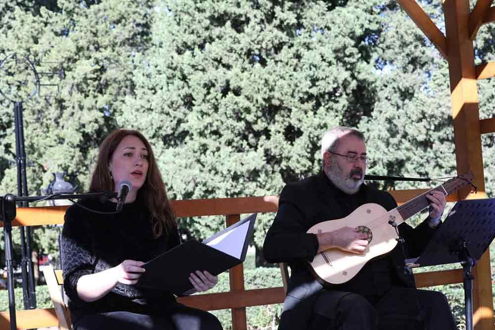 Músicos en el Concierto del Silencio