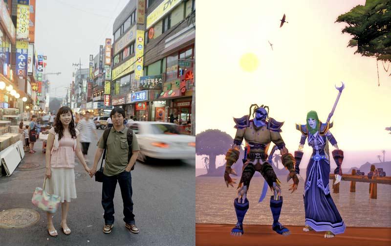 pareja en la realidad y pareja en un videojuego-videojuegos