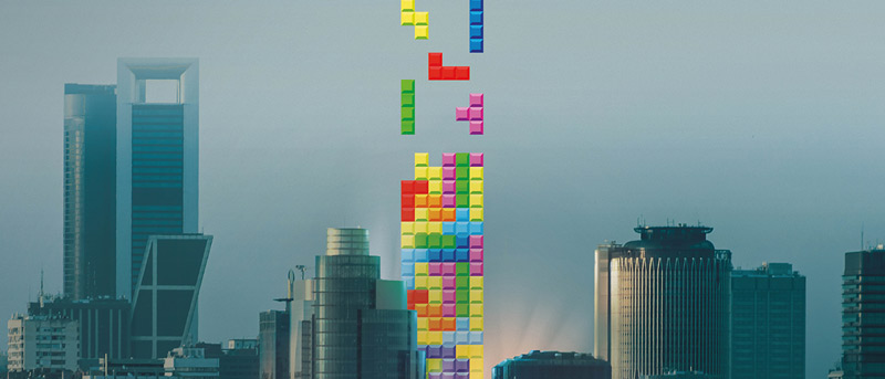 madrid mezclado con el videojuego de tetris-videojuegos