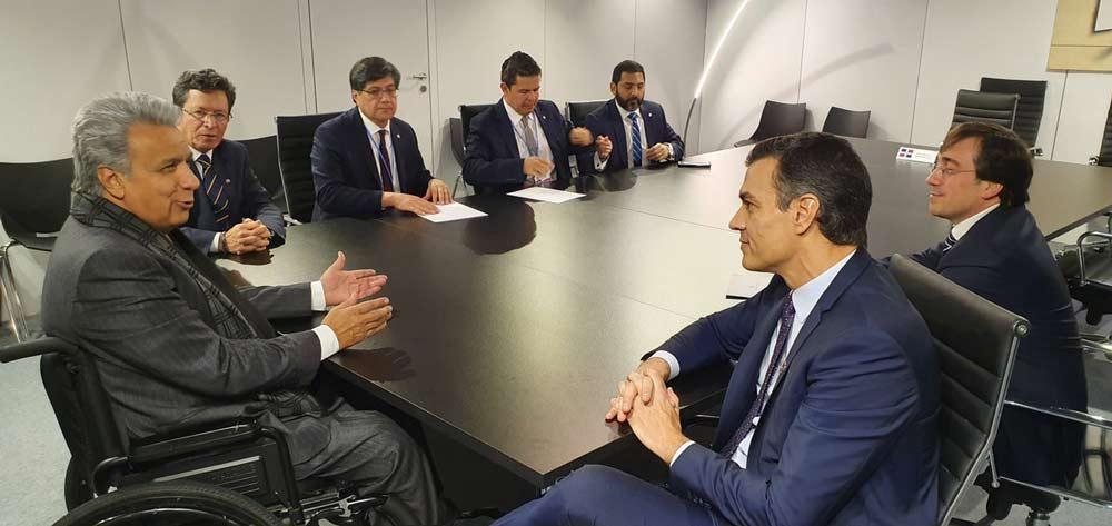 Reunión Pedro Sánchez en la COP25