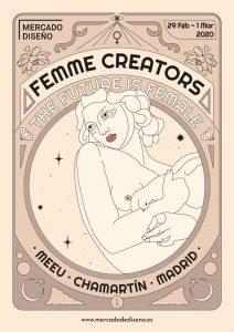 Cartel oficial de la nueva edición de Femme Creators.